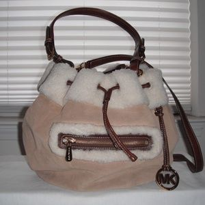 Michael Kors Ben Brooke Shearling Bag
